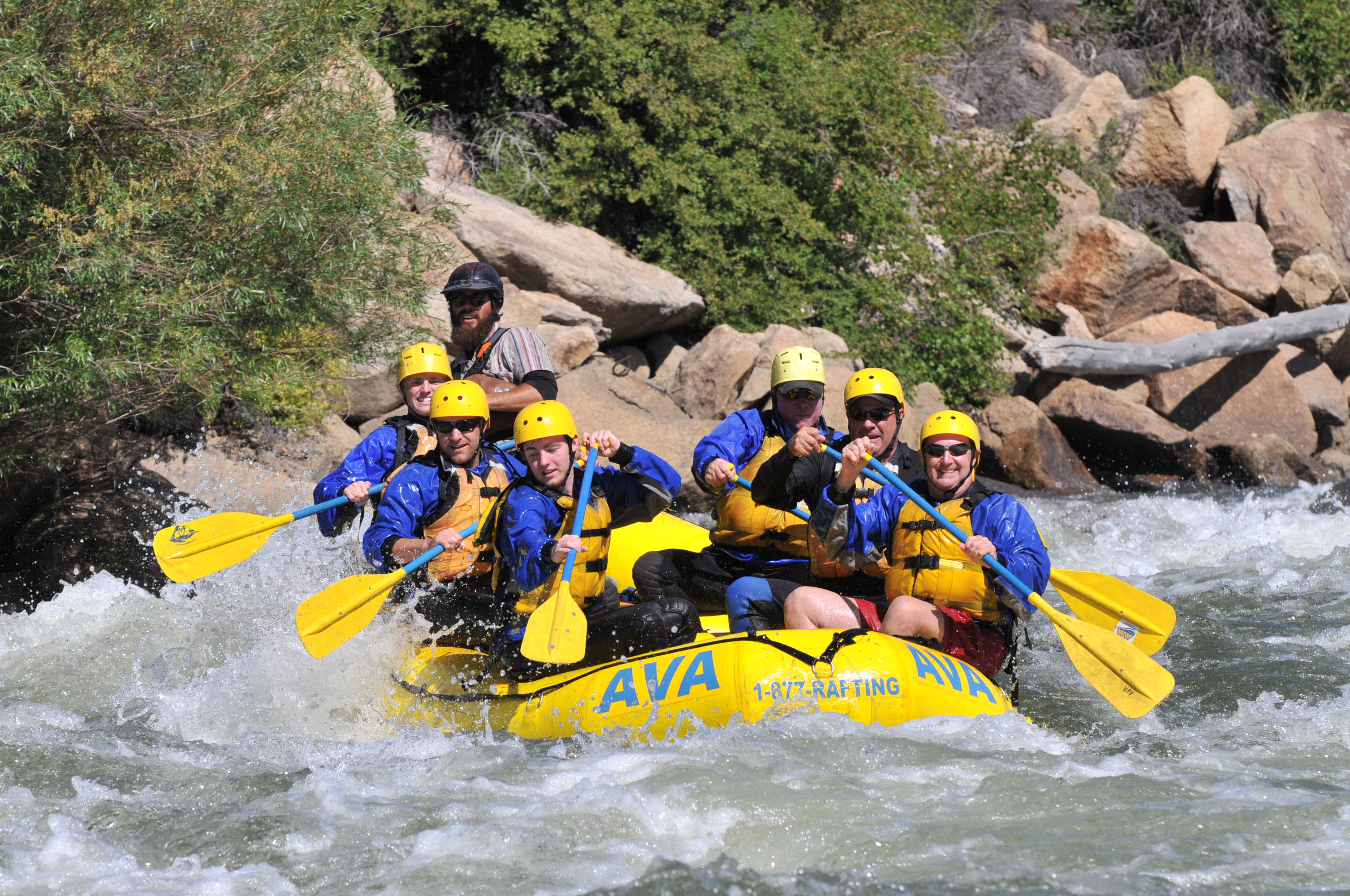 Whitewater Rafting in August